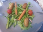 Niet gaargekookte groentjes